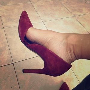 Banana Republic burgundy suede stilettos